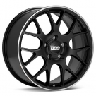 Диск BBS CH-R Porsche Black w/Polished Stainless Lip