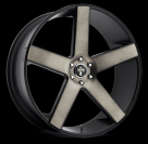 Диск Dub Baller Black/Machined w/Dark Tint Clearcoat S116