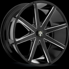 Диск Dub Push Gloss Black/Milled Accents S109
