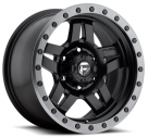 Диск Fuel Off-Road Anza Matte Black w/ Anthracite Ring D557