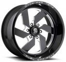 Диск Fuel Off-Road Turbo Gloss Black Milled 6 Lug D582
