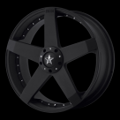 Диск KMC KM775 Rockstar Car Matte Black w/ Machine Face