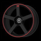 Диск MOTEGI RACING MR116 Black w/Red Stripe