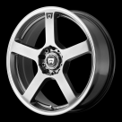 Диск MOTEGI RACING MR116 Dark Silver w/Machined Flange