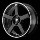 Диск MOTEGI RACING MR116 Gloss Black w/Machined Flange
