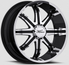 Диск Milanni 446 Kool Whip 8 Gloss Black w/Machined Face and Lip