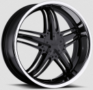 Диск Milanni 457 Force Gloss Black w/ Stainless Steel Lip