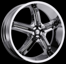 Диск Milanni 459 Bel Air 5 Chrome w/ Gloss Black Inserts
