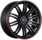 Диск Tenzo Racing Tenspec Matte Black w/Red Stripe