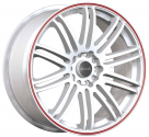 Диск Tenzo Racing Tenspec Matte White w/Red Stripe