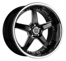 Диск Vertini Drift Gloss Black w/ Chrome Stainless Steel Lip