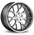 Диск Vossen CV2 Matte Black Machined / Stainless Lip